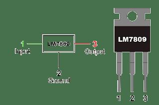 منظم الجهد 7809 Voltage regulator