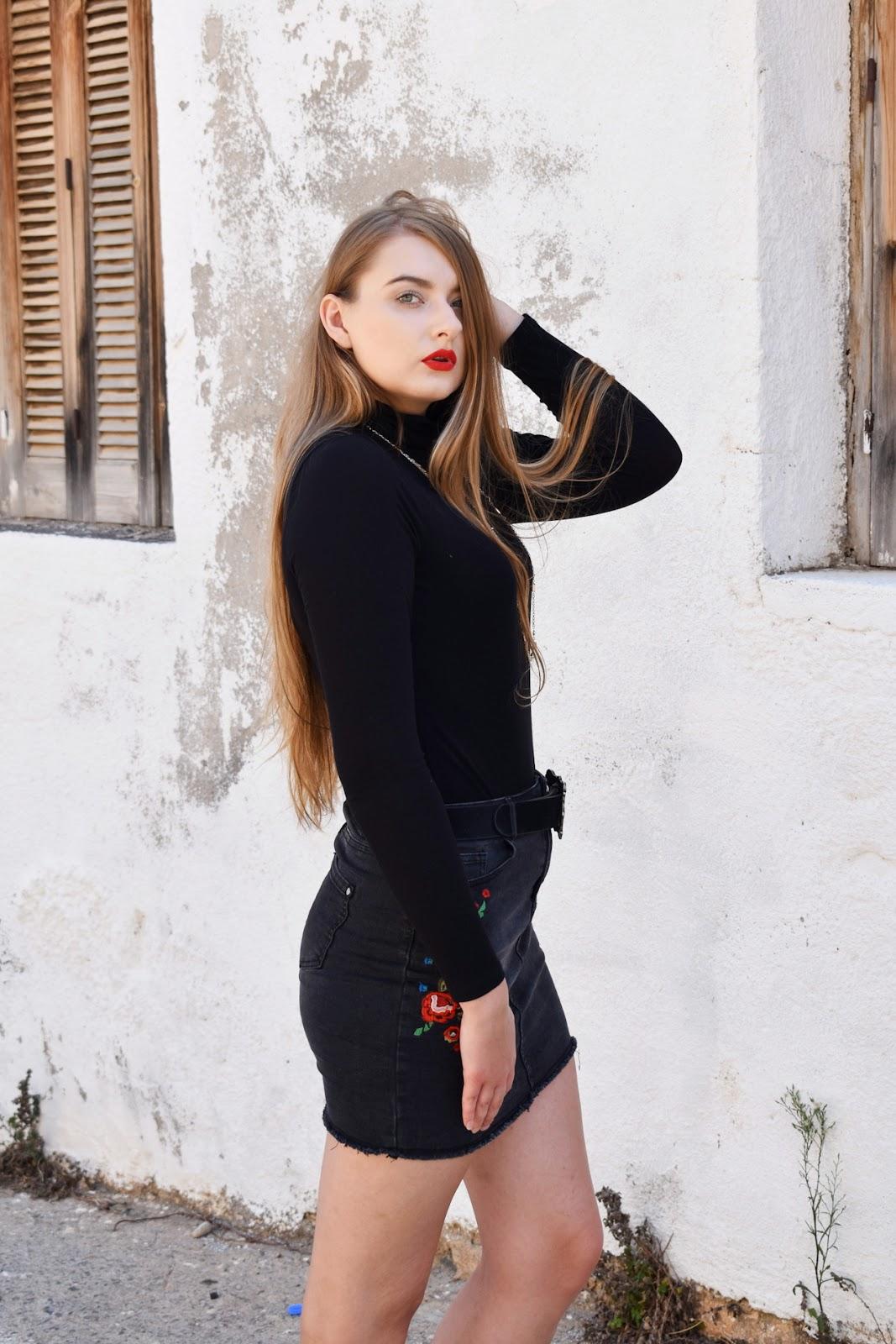 spódnica jeansowa jesień