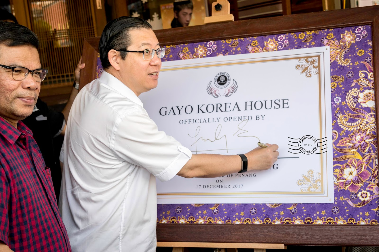 Official Launching of Gayo Koren House, the Longest Cafe in Penang