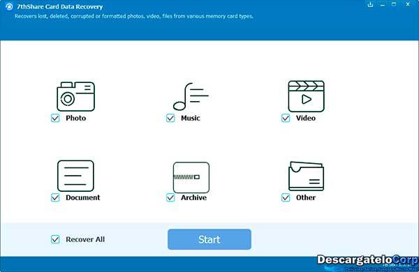 7thShare Card Data Recovery Recupera Datos de Celulares y Tarjetas SD