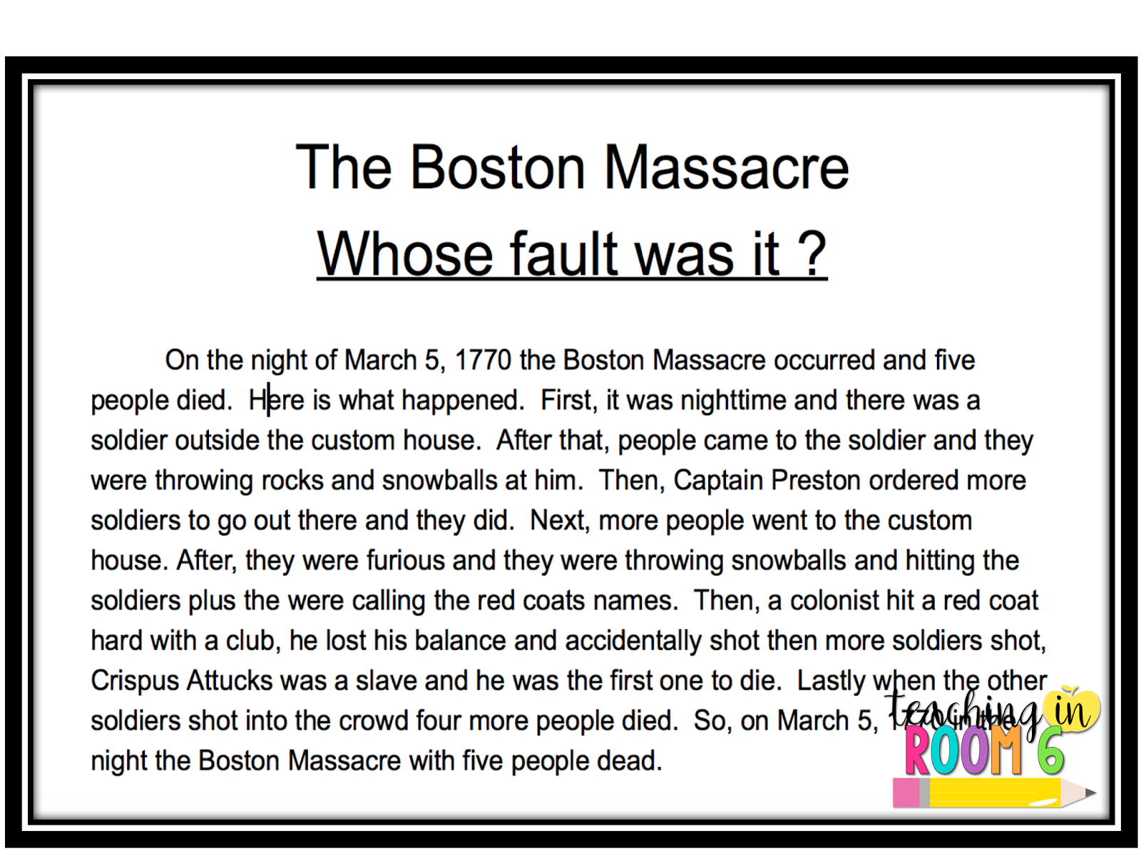 worksheet Fact Opinion Bias Worksheet truth and bias in the boston massacre teaching room 6 this is one of my students attempts at writing a non biased account night it was not easy to do