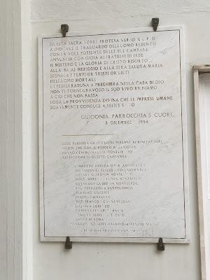 Sacro Cuore Guidonia Campanile Targa