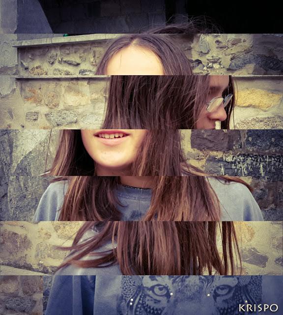 retrato deconstruido de una chica