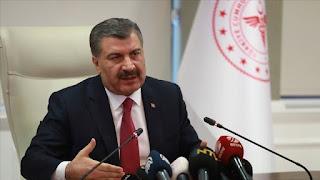 وزير الصحة التركي يعلن عن حصيلة اليوم من الإصابات والوفيات بفايروس كورونا