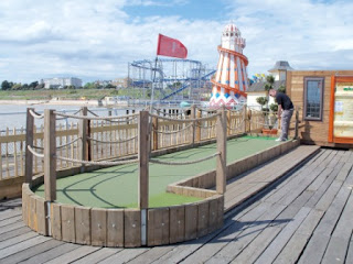 Photo of the Minigolf course at Clacton Pier in 2011