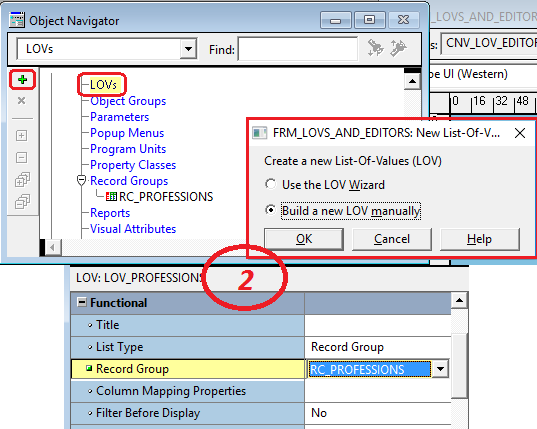 List item in oracle forms