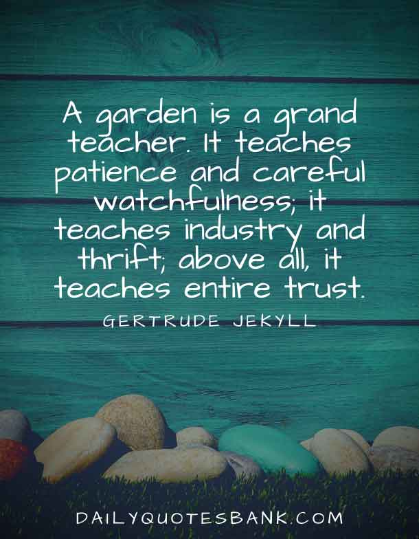 Inspirational Quotes About Gardens and Life Lessons