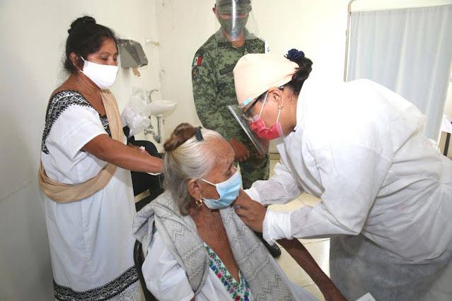 Llega a Yucatán lote de 12,870 vacunas contra el Coronavirus para aplicarle la segunda dosis a adultos mayores