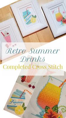 Retro Summer Drinks Cross Stitch