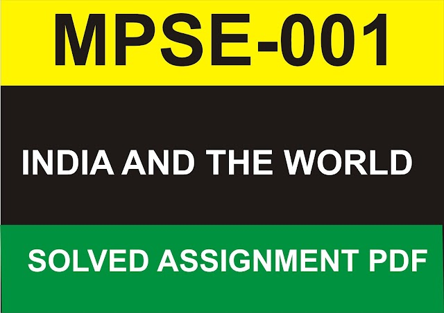 MPSE-001 Solved Assignment PDF