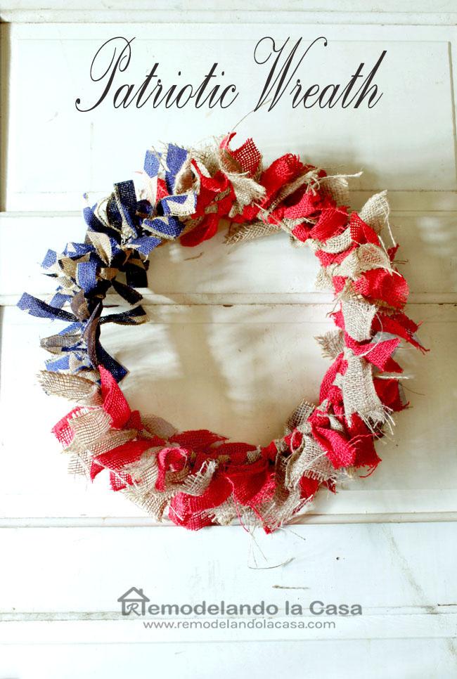 burlap ribbon patriotic wreath