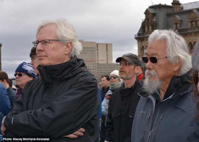 David Suzuki at March for Science in Ottawa Earth Day 2017