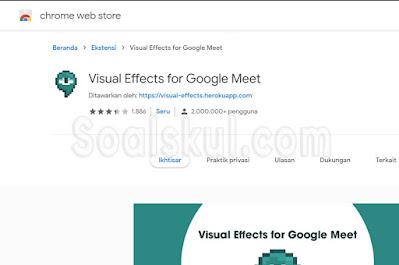 Ekstensi Chrome Visual Effect for Google Meet