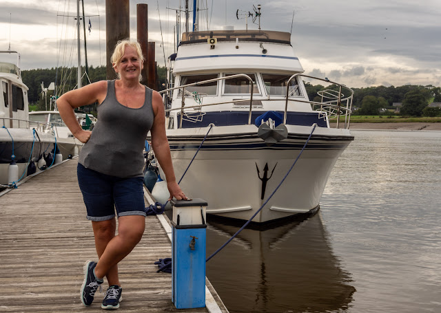 Photo of me and Ravensdale at Kirkcudbright Marina