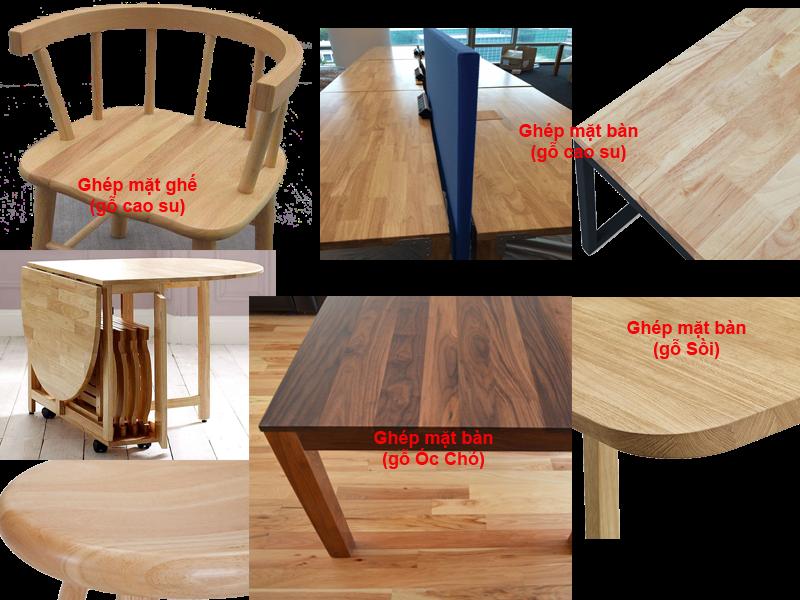 Ghép gỗ làm mặt bàn, mặt ghế