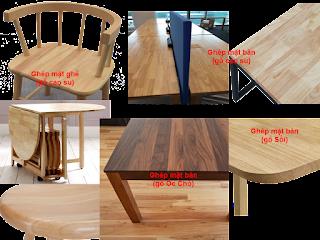 Gỗ ghép làm mặt bàn mặt ghế