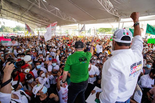 Cierre de campaña de Ricardo Taja junto a Ricardo Astudullo