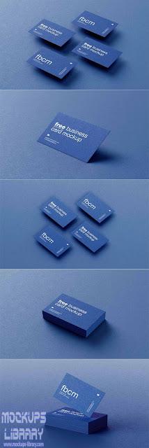 textured business card mockups 1