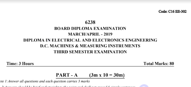 Dc Machines and Measuring Instruments Old question papers c16 eee March-April 2019
