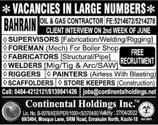 Oil & Gas Recruitment to Bahrain