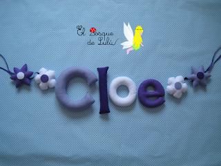 nombre-fieltro-guirnalda-name-banner-felt-feltro-decoración-infantil-regalo-personalizado-elbosquedelulu-hechoamanoparati-Cloe