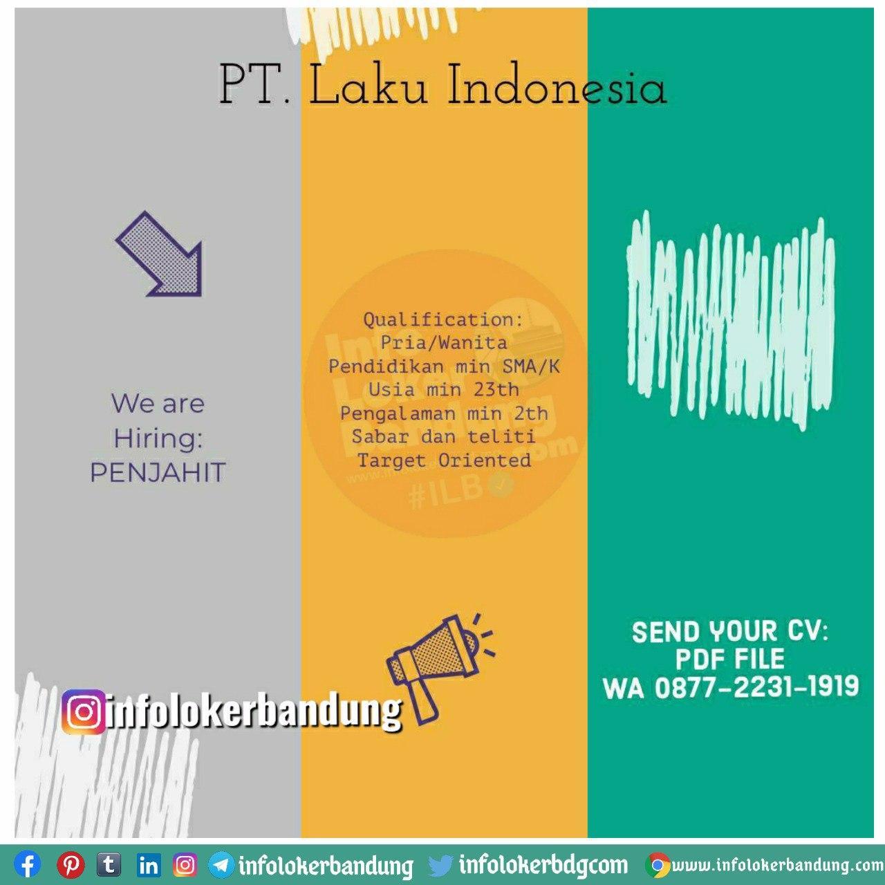 Lowongan Kerja PT. Laku Indonesia Bandung Agustus 2020