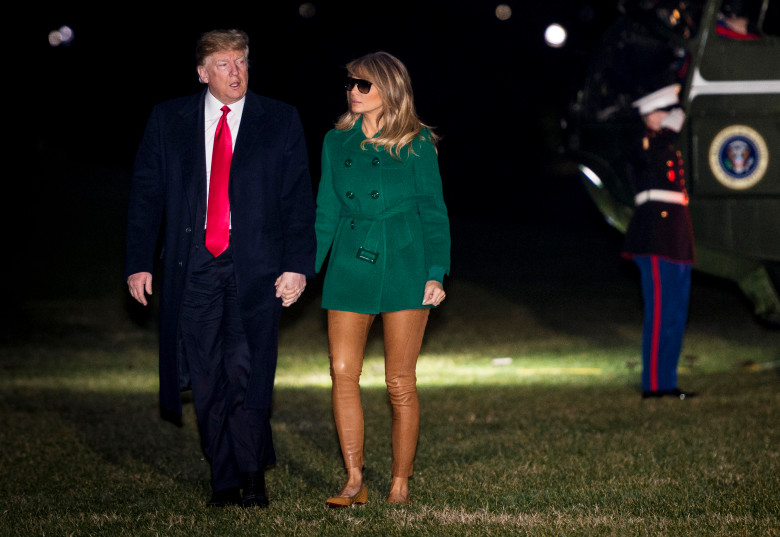Melania Trump's strange leg wear