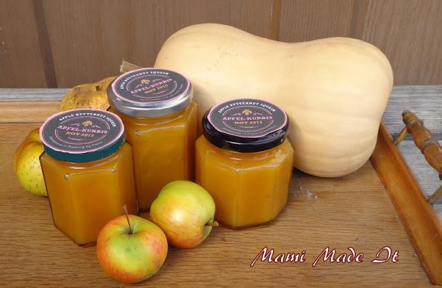 Apple-Butternut Squash Jam - Apfel-Kürbis Marmelade