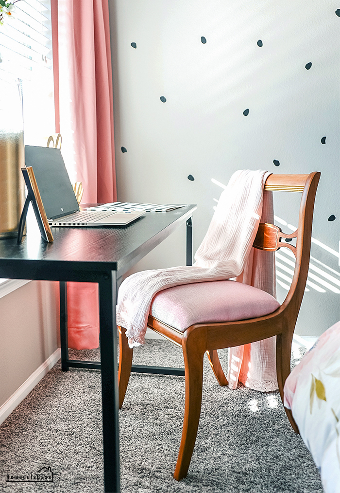a thrifty chair gets a glam makeover