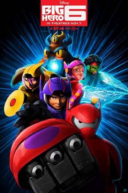 Cartel de la película de animación de Disney Big Hero 6