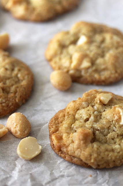 Macadamia Nut and White Chocolate Chunk Cookies