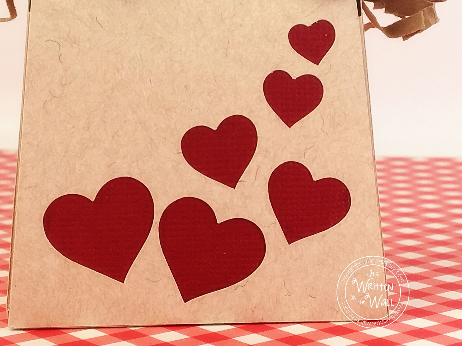 The Hearts Are Cut Out Of The Kraft Paper With A Red Backer Behind. Super  Easy To Do!