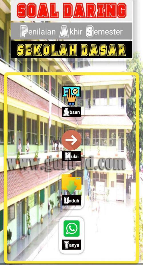 gambar aplikasi PAS Daring SD berbasis android