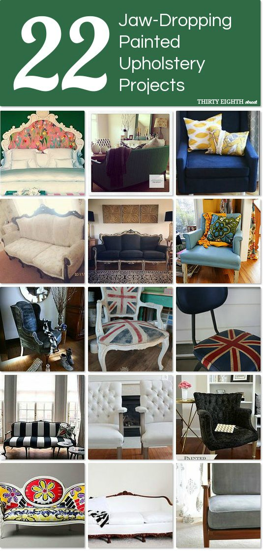 painted upholstery, how to paint upholstery, paint upholstery with chalk paint, upholstery makeover