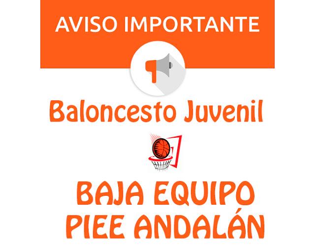 BALONCESTO JUVENIL: Baja equipo PIEE Andalán