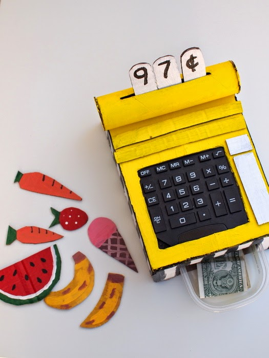 make a cardboard cash register!