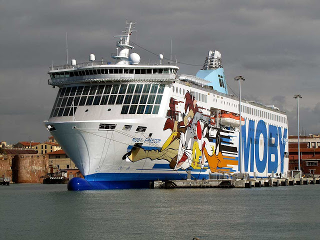 Moby Freedom ferry, IMO 9214379, Livorno