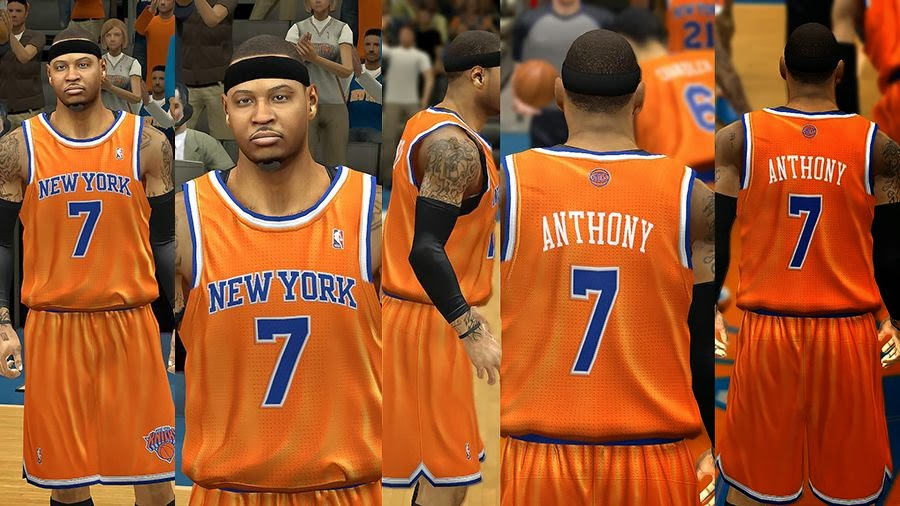 NBA 2k14 New York Knicks Jersey Patch Pack - Orange . f3a9a3c12