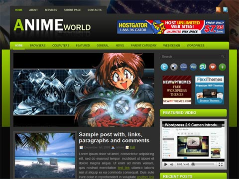 AnimeWorld Wordpress Themes