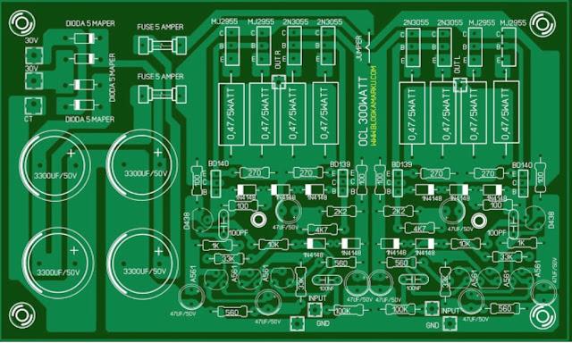 Membuat Power Ocl 300 Watt plus power suplay