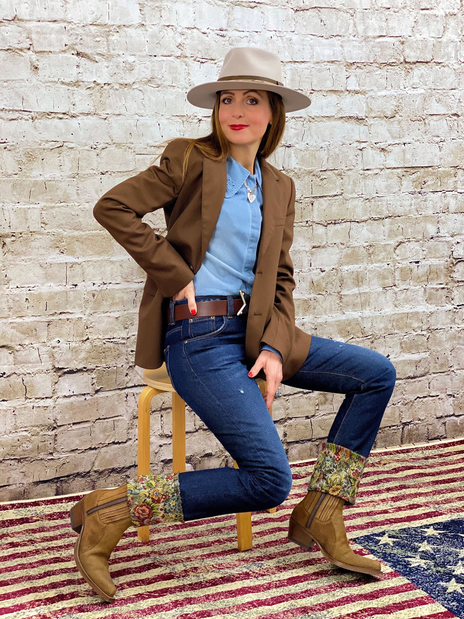 Bailey Delmark stone fedora hat
