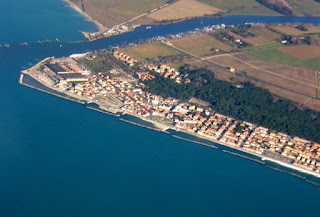 Marina di Pisa from the air
