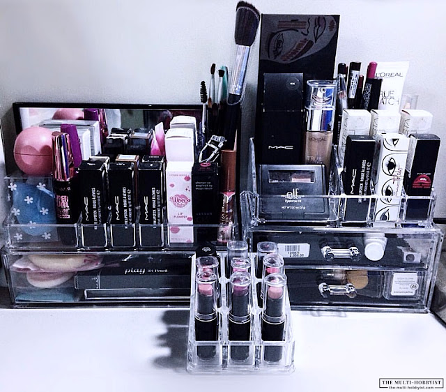 My Simple Vanity Table Set Up Featuring Acrylic Makeup Organizers