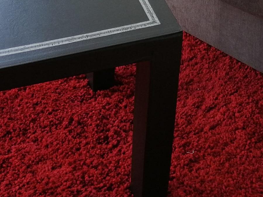 table de carton, déco masking tape et peinture -1-