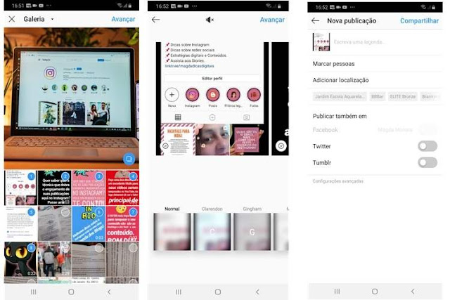 Tutorial de como criar Post carrossel no Instagram