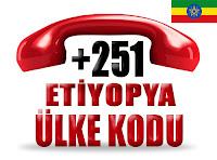 +251 Etiyopya ülke telefon kodu