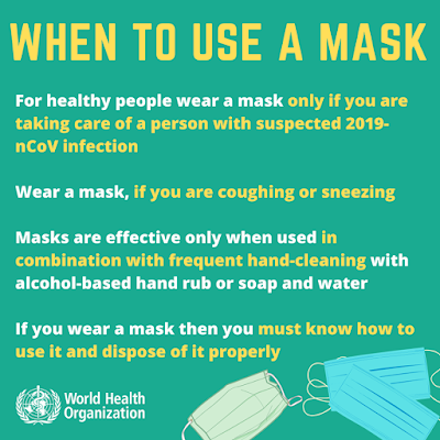 The Who's guidance on when to wear a mask