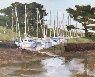 #205 'Yacht Harbour' 24x30cm