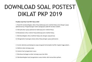 Soal Postest PKP Berbasis Zonasi 2019