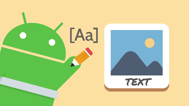 Write text over images on Android